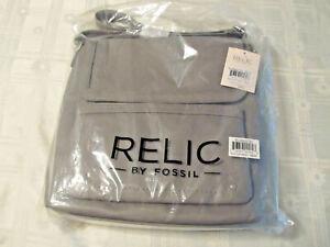 RELIC By FOSSIL Evie Flap Crossbody Messenger Bag Smoke Gray RLH8620793 NWT
