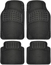 Car Floor Mats for Ford Mustang 4pc Set All Weather Rubber Semi Custom Fit Black