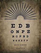 Incorniciato stampa-occhio grafico (foto poster arte OTTICO Occhiali Occhiali da sole test)