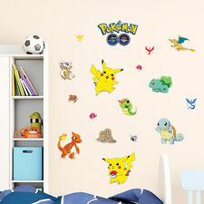 Hot Pokemon Go Cute Pikachu Wall Decals Sticker Vinyl Mural Kids Room Decor LCF