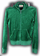 Juicy Couture Green Zipper Sweater Size Medium Track Jacket Collar