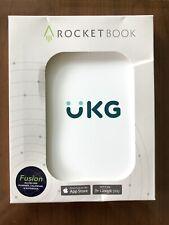 Rocketbook Fusion Smart Reusable Planner Calendar Notebook Nib White Pen Cloth