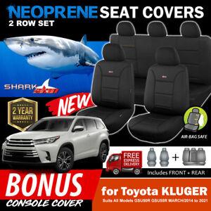 Sharkskin Neoprene Seat Covers for Toyota Kluger GXL GX Grande GSU55R 3/2014-21