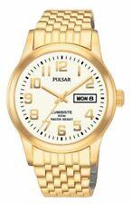 Pulsar Men's PXN110 Dress Gold-Tone Stainless Steel Watch Lumibrite