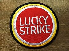 LUCKY STRIKE Logo Racing Biker Embroidered Patch Sew Iron on Jacket T-shirt Cap