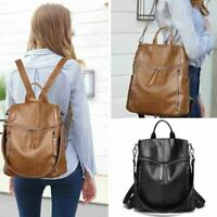Luxury Women's Genuine Leather Backpack Rucksack Handbag Crossbody Shoulder Bag