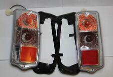 CLASSIC FIAT 500 REAR LIGHT ASSEMBLY KIT (PAIR) CLEAR TAIL LAMP BRAND NEW!