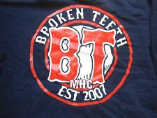 BROKEN TEETH UKHC Red sox print T shirt brutality will prevail rare turnstile XL