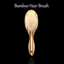 Bamboo Hair Brush for Women Men Combover Wavy Long Loose Hair Style + Free Comb