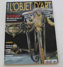 Revue OBJET D'ART ESTAMPILLE 350 2000 NICOLAS PETIT MOREL Porcelaines Mennecy