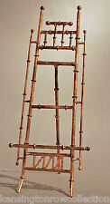 """EASEL - """"CANTON"""" TABLETOP DISPLAY STAND - PICTURE STAND - ANTIQUE GOLD - 16""""H"""