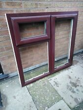 Rosewood on White uPVC window Brand New