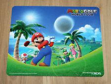 2014 Nintendo Mario Golf World Tour Rare Promo Mousepad 3DS
