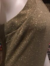 Formal Prom Long Evening Glitter Dress.Gold.Lined.New Fashion Styles Size 12-13