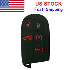 5 Button Key Fob Cover Case Shell Holder for Jeep Dodge Challenger Chrysler Fiat