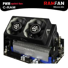 Cooling Fan Memory Dual 60mm PWM 1500-4000 RPM Radiator Computer Accessories New