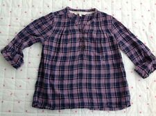 FATFACE Fat Face Girls Shirt Top Check Tartan Pink Purple Blue 10 - 11 Years