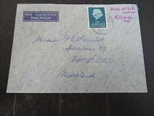 Nederlands Nieuw Guinea 34 op brief FAKFAK - Rijswijk 1961