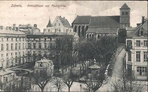 Zabern, Schlossflügel mit Pfarrkirche    1915