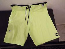 NEW Size 33 BILLABONG PLATINUMX Swimsuit Board Shorts NEON GREEN $50