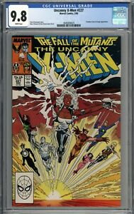 Uncanny X-Men #227 CGC 9.8 NM/MT Forge & Freedom Force Appearance WHITE PAGES