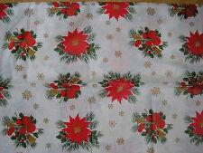 "christmas  flannel back table cloth 70"" x 52"""