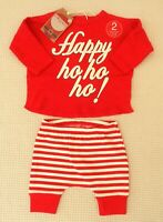 BNWT NEXT Baby Boys Girls Christmas Outfit Long Sleeve Top & Leggings 0-3 months