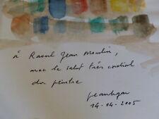 [Coll.R-JEAN MOULIN ART XXe] JEAN LE GAC Le Peintre 2004 Envoi signé Aquarelle