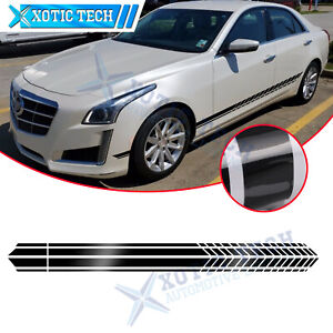 Black Side Body Fender Sporty Style Stripe Sticker For Cadillac Escalade CTS