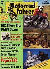 Motociclisti 11/92 1992 APRILIA PEGASO BUELL RSS 1200 GPZ 900 R Motoclub Helix