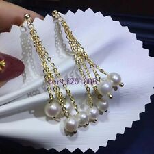 Natural AAA South Sea  Pearl Earrings Silver Plated Gold