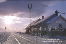 Canadian National Rwy     Caplan station Quebec 1976   Gaspe Peninsula x