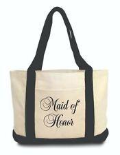 Maid of Honor Bride Canvas Duffle Tote Bag New w/o Tags Bridesmaid Gift Reusable