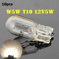 10 pcs 12V T10  W5W Halogen Interior Side Light Marker Dashboard Dash Bulb Clear