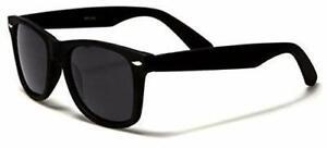 Horn Rimmed Polarised Sunglasses Matt Black Classic Retro Medium UV400