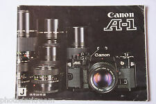 Canon A-1 35mm Manual Film Camera Instruction Book - Japanese - USED B70