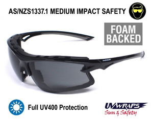 UV Wraps Foam Backed AS/NZ1337 Safety Sunglasses PO8256