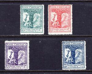 JHL 1928 CYRENAICA B17-B20 FULL SET OF 4 UNUSED F/VF LH (CAT $14)