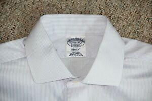 BROOKS BROTHERS Regent Slim Fit Non-Iron All Cotton Dress Shirt 15.5 x 32
