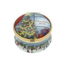 Halcyon Days Enamel Annual Christmas Year Box 2018 with Coa New Mint Ench180101G