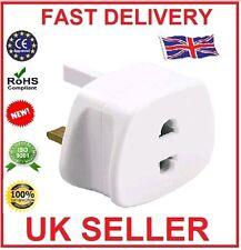 Shaver Plug Adaptor UK To 2 Pin Socket Plug Fuse Toothbrush For Bathroom Shaving