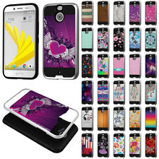 For HTC Bolt / 10 Evo 5.5 inch Hybrid Hard Rubber Silicone Brushed Case Cover