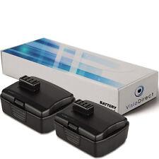 Lot de 2 batteries type BPL-1220 pour Ryobi 2000mAh 12V - Société Française -