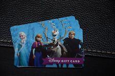 2015 Frozen Disney Gift Card Anna Elsa Olaf Sven Walt Disney World No Value