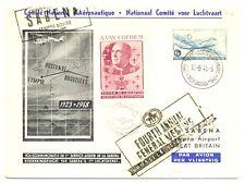 BELGIUM -1948 SPEC FLIGHT CV - OSTENDE-LYMPNE -- -SPEC LABEL