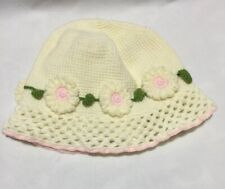 Seattle Hats Crocheted Toddler Daisy Chain Sz Medium 10-18 Mo Baby Bucket NWT