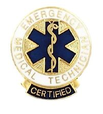 Certified EMT Lapel Pin Emergency Medical Technician Graduation Pins 1087 New