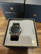 New Huawei Watch 2 Classic Smartwatch Ceramic Bezel Brown Leather Strap warranty