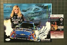 Courtney Force Signed 8x10 Photo Autographed COA JSA Certified  NHRA  Driving