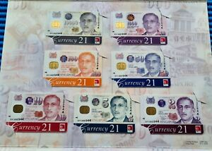 000944 Singapore Portrait Series $2, $5, $10, $50, $100, $1000 & $10000 Cashcard